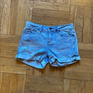 Pilcro and the letterpress embroidered shorts